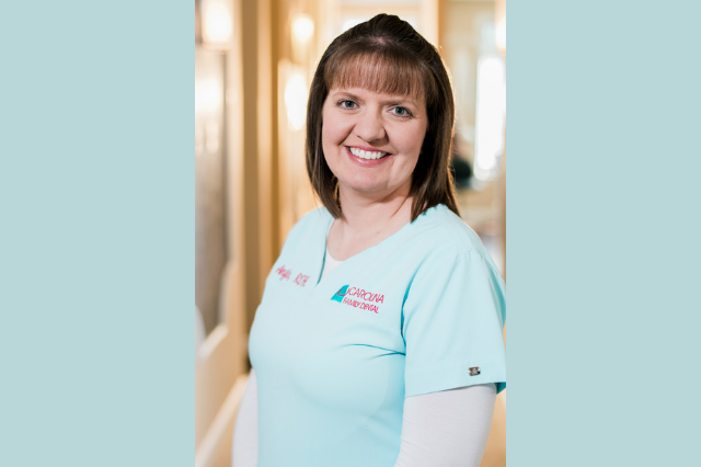 A picture of Angie Stanley with Carolina Family Dental